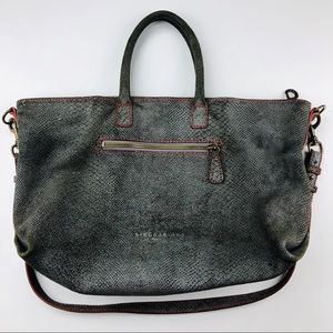 Liebeskind Berlin Grey Stamped Leather Tote Large